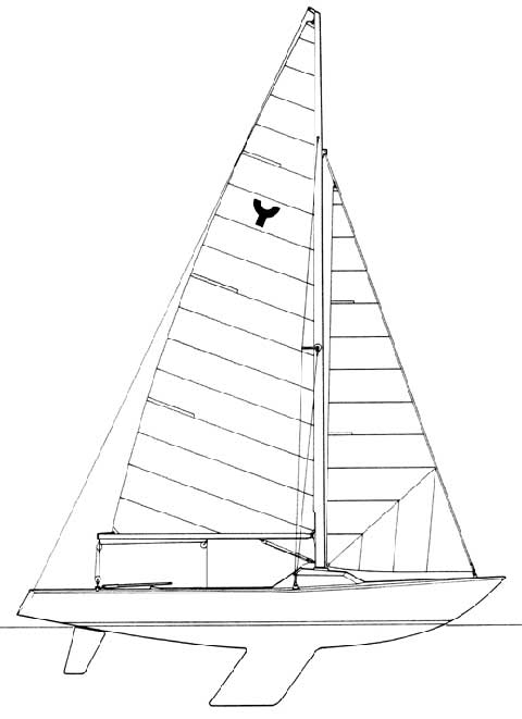 Yngling sailboat