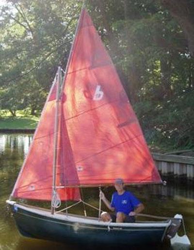 Bauer 10 sailing/rowing dinghy, 2001, sailboat