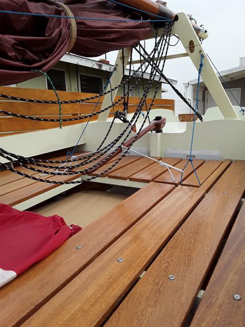 Bolger design cat boat, 2002 sailboat