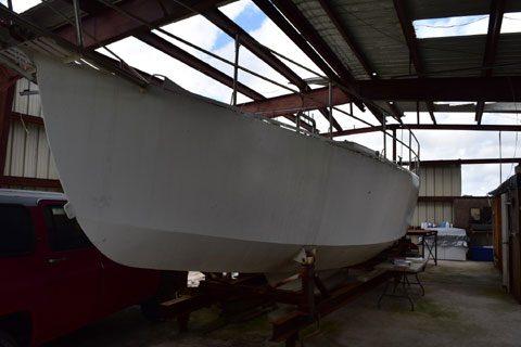 40 foot steel hull project sailboat
