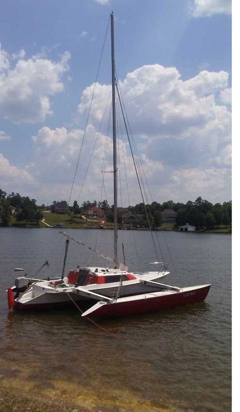 Dragonfly 25', Folding trimaran, 1990 sailboat