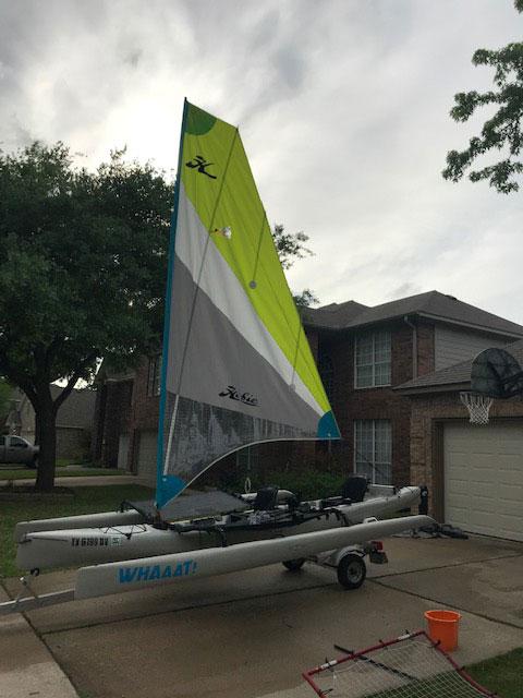 Hobie Tandem Island kayak, 2017 sailboat