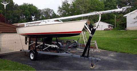 Impulse 21, 1985. sailboat