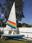 1984 Laser sailboat