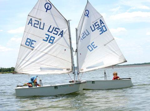 6 Optimist Dinghies 2002 sailboat