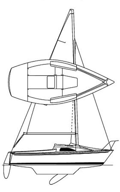 Precision 18, 2008 sailboat