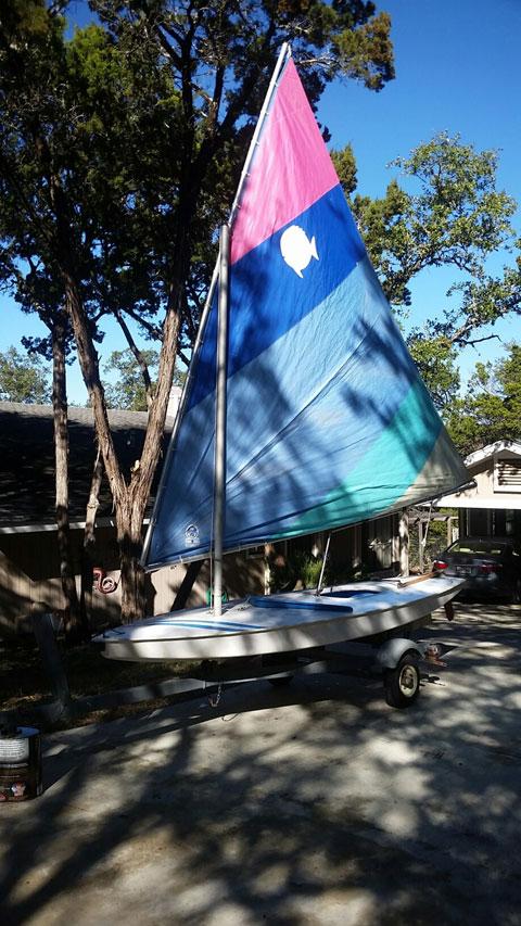 Sunfish with trailer sailboat