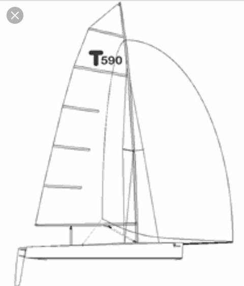 Thompson T-590 Sportboat Dinghy, 2002 sailboat