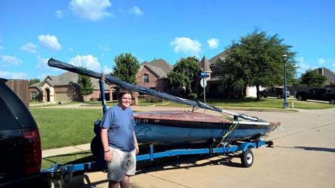 Wood 505 sailboat