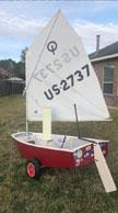 1992 Optimist sailboat