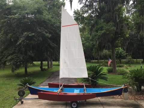 Sailing canoe, 18 ft. sailboat