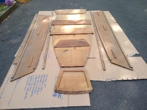 Wooden dinghy kit, 7 ft. sailboat