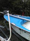 Antique 14' Bock sailboat