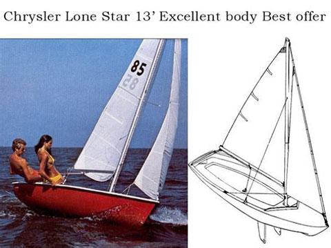 Chrysler 13' Pirateer sailboat