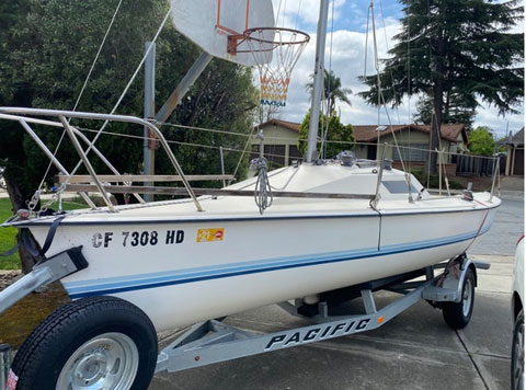 Holder 20, 1981 Vagabond, 20' sailboat