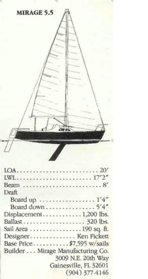 Mirage 5.5, 1978 sailboat