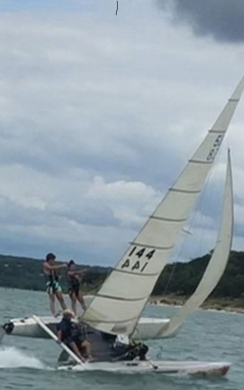 Nacra 5.8 catamaran, 1982 sailboat