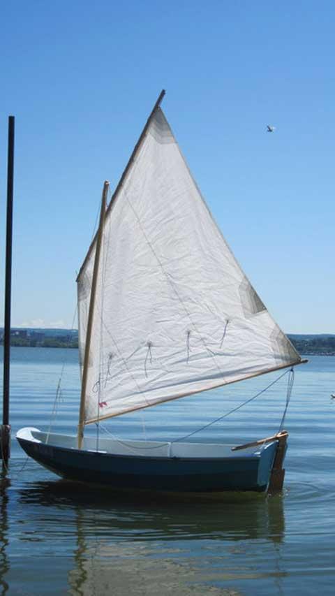 Pram sailboat
