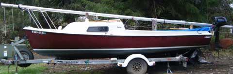 Stuart Marine Mariner Sailboat, 19' sailboat