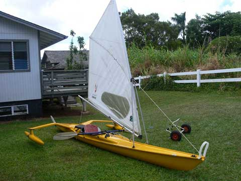 Triak sailing kayak, Trimaran, 1996 sailboat