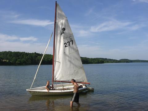 Apollo 16, 1979, Hanover, in Central Pennsylvania sailboat