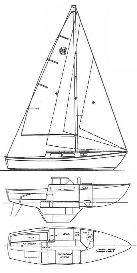 Cal 25, 1974, Eagle MOuntain Lake, Fort Worth, Texas sailboat