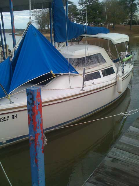 Catalina 22 wing keel, 1987 sailboat