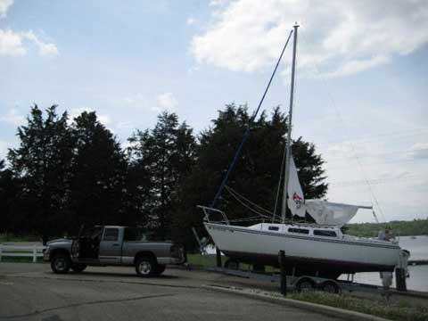 Catalina C25, Swing keel, 1983 sailboat