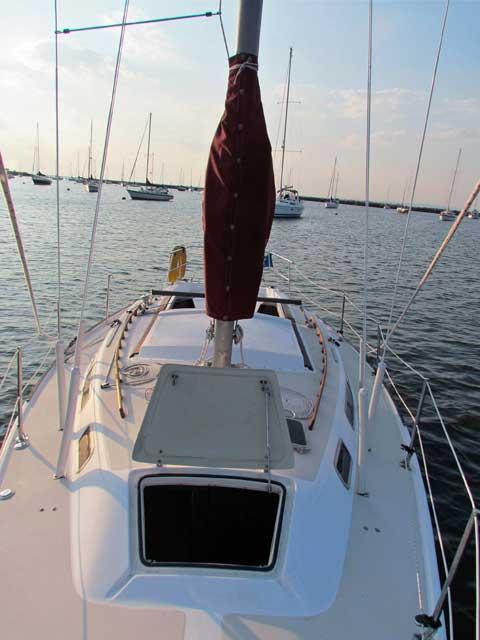 Catalina 30, tall rig, 1982, Atlantic Highlands Municipal Harbor, New Jersey sailboat
