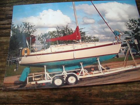 Chrysler, swing keel, shoal keel, 26ft., 1979, Lake Hefner, Oklahoma sailboat