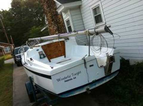 21 ft clipper marine sailboat