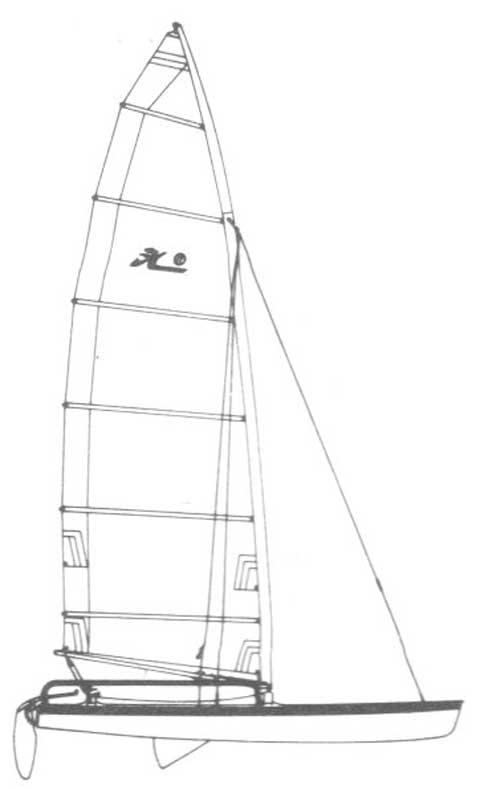 Hobie 17 Sport, 1987 sailboat