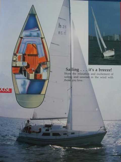 Hunter 28, 1989 sailboat