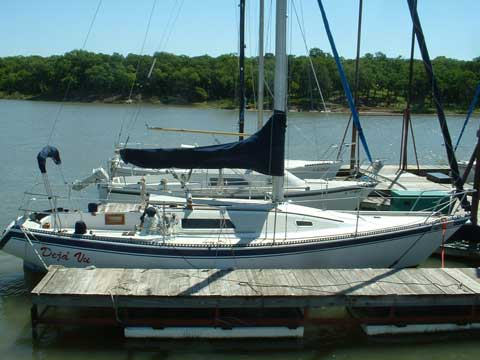 San Juan 30, 1977, Lake Lewisville, Dallas, Texas sailboat