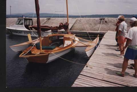 Wooden Trimaran, Shell, 2004, 18', Minnetonka, Minnesota sailboat