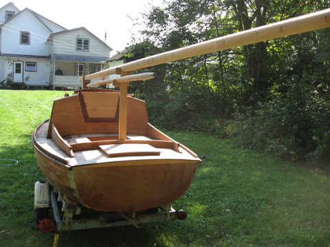 Tinkerbelle II, converted Old Town Whitecap dinghy, 2010 sailboat