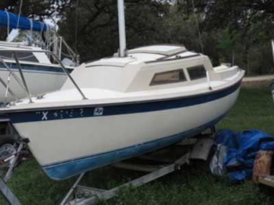 Vagabond Weekender, 17', 1981 sailboat