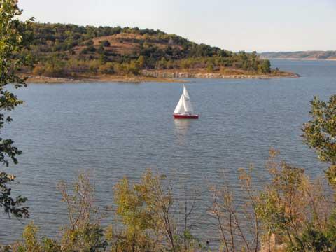 Venture 24, 1971, Lake Keystone, Tulsa, Oklahoma sailboat
