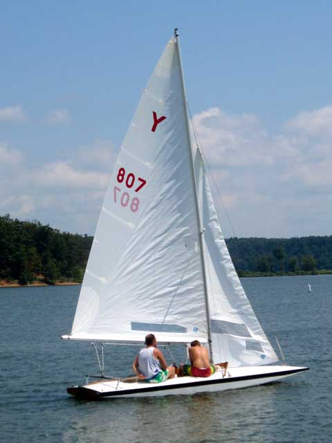 Y-Flyer Wooden Sailboat, 18', 1962 sailboat