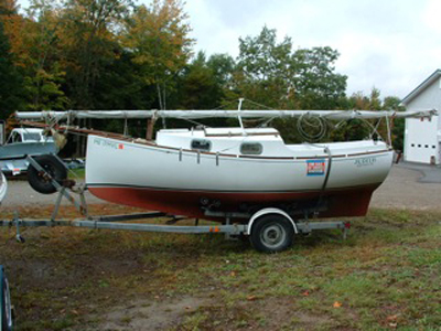 Blackwatch Catboat, 18/24, Boothbay, Maine sailboat