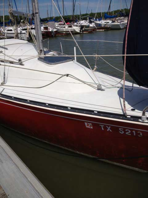 C & C 25, 1981, OakPoint Texas, (Lake Lewisville sailboat
