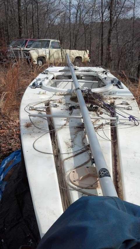 Illusion Mini 12, Beaver Lake, NorthWest Arkansas sailboat