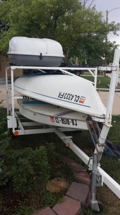 Laser 1985 and Sunfish 1987 sailboat