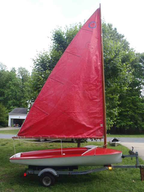 Moth, early 60s, Lanaverre built, Williamsburg, Virginia sailboat