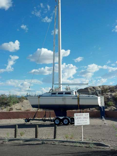 S2 27, 1986, Elephant Butte Lake, New Mexico sailboat