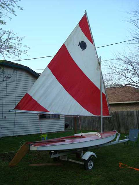 Sunfish, late 60s, College Station, Texas sailboat