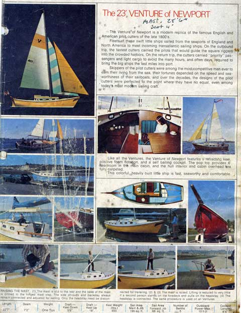 Macgregor Venture of Newport 23', 1976 sailboat