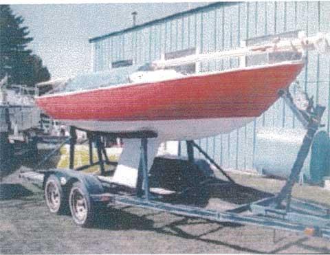 Yngling, 1965, Canyon Lake, Texas sailboat
