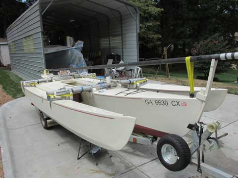 Custom 21 foot trimaran, 2007 sailboat