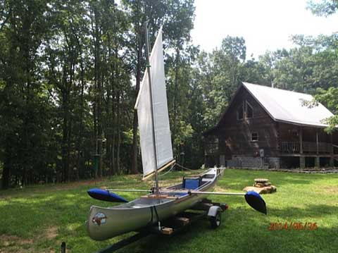 Grumman 17 Sailing Canoe, 2014 sailboat